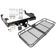 Trailer Tow Hitch For 99-17 F-350 F-450 F-550 Basket Cargo Carrier Platform Hitch Lock and Cover