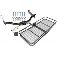 Trailer Tow Hitch For 04-15 Nissan Titan All Styles Basket Cargo Carrier Platform Hitch Lock and Cover