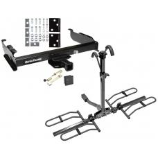 Trailer Tow Hitch For 67-93 Dodge D/W 100 150 200 250 300 350 Platform Style 2 Bike Rack Hitch Lock and Cover