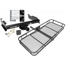 Trailer Tow Hitch For 67-93 Dodge D/W 100 150 200 250 300 350 Basket Cargo Carrier Platform Hitch Lock and Cover
