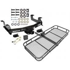 Trailer Tow Hitch For 13-17 RAM 4500 5500 Cab & Chassis Basket Cargo Carrier Platform Hitch Lock and Cover