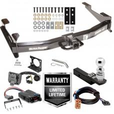 "Class 5 Trailer Hitch w/ Brake Control For 01-02 Chevy Silverado GMC Sierra 2500 HD 3500 w/ Plug Play Wiring 2- 5/16"" Ball 2"" Drop Mount 7-Way Pin Blade RV Controller"