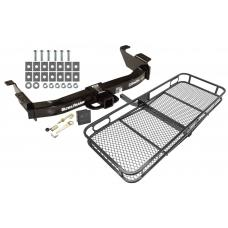 Trailer Tow Hitch For 00-14 Ford E-150 E-250 E-350 Econoline Basket Cargo Carrier Platform Hitch Lock and Cover