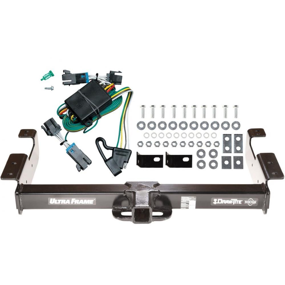 Trailer Hitch Tow Receiver W   Wiring Kit Harness For 00