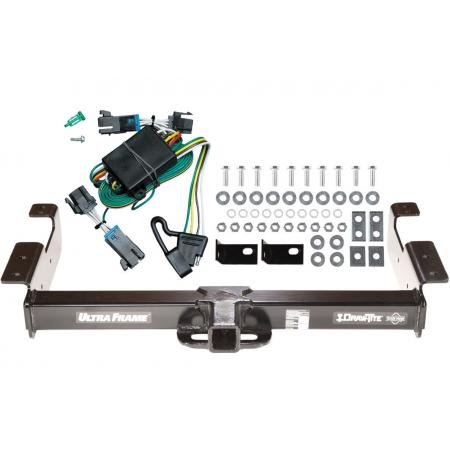 Trailer Hitch Tow Receiver w/ Wiring Kit Harness For 00-02 Chevy Express GMC Savana 1500 2500 3500 Class 5