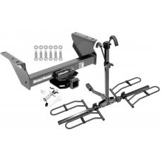 Trailer Tow Hitch For 13-17 RAM 4500 5500 Cab & Chassis Platform Style 2 Bike Rack w/ Anti Rattle Hitch Lock