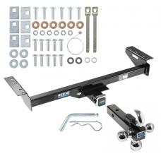 "Reese Trailer Tow Hitch Receiver For 84-01 Jeep Cherokee Wagoneer w/Tri-Ball Triple Ball 1-7/8"" 2"" 2-5/16"""