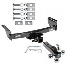 "Reese Trailer Tow Hitch Receiver For 83-12 Ford Ranger 94-10 Mazda B Series w/Tri-Ball Triple Ball 1-7/8"" 2"" 2-5/16"""