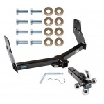 """Reese Trailer Tow Hitch Receiver For 97-03 Infiniti QX4 96-04 Nissan Pathfinder w/Tri-Ball Triple Ball 1-7/8"""" 2"""" 2-5/16"""""""