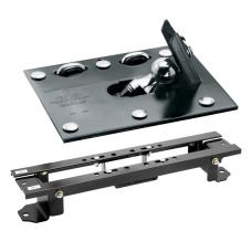 "Draw-Tite Gooseneck Trailer Hitch for 07-17 Toyota Tundra Fold Down Plate w/ Custom Brackets Under Bed Rails 2-5/16"" Ball"