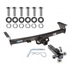 "Reese Trailer Tow Hitch Receiver For 05-19 Nissan Frontier 09-12 Suzuki Equator w/Tri-Ball Triple Ball 1-7/8"" 2"" 2-5/16"""