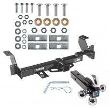 "Reese Trailer Tow Hitch Receiver For 01-05 Pontiac Aztek 02-07 Buick Rendezvous w/Tri-Ball Triple Ball 1-7/8"" 2"" 2-5/16"""