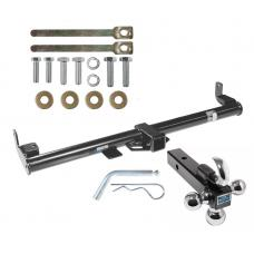"Reese Trailer Tow Hitch Receiver For 97-06 Jeep Wrangler TJ w/Tri-Ball Triple Ball 1-7/8"" 2"" 2-5/16"""