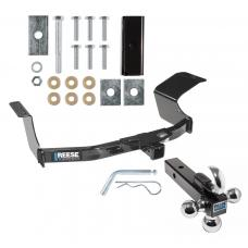 "Reese Trailer Tow Hitch Receiver For 07-13 Mitsubishi Outlander w/Tri-Ball Triple Ball 1-7/8"" 2"" 2-5/16"""