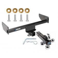 "Reese Trailer Tow Hitch Receiver For 12-15 Chevy Captiva Sport 08-09 Saturn Vue w/Tri-Ball Triple Ball 1-7/8"" 2"" 2-5/16"""