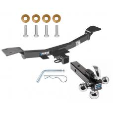 "Reese Trailer Tow Hitch Receiver For 05-09 Hyundai Tucson 05-10 KIA Sportage w/Tri-Ball Triple Ball 1-7/8"" 2"" 2-5/16"""