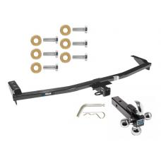 "Reese Trailer Tow Hitch Receiver For 01-06 Acura MDX 03-08 Honda Pilot w/Tri-Ball Triple Ball 1-7/8"" 2"" 2-5/16"""