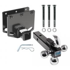 "Reese Trailer Tow Hitch Receiver For 08-19 Toyota Sequoia w/Tri-Ball Triple Ball 1-7/8"" 2"" 2-5/16"""