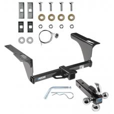 "Reese Trailer Tow Hitch Receiver For 10-19 Subaru Legacy Sedan Outback Wagon w/Tri-Ball Triple Ball 1-7/8"" 2"" 2-5/16"""