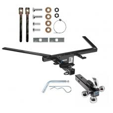 "Reese Trailer Tow Hitch Receiver For 10-19 Ford Taurus 4-DR Sedan w/Tri-Ball Triple Ball 1-7/8"" 2"" 2-5/16"""