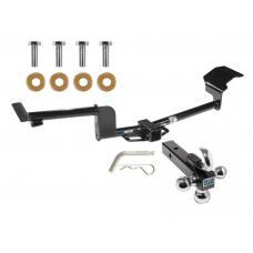 "Reese Trailer Tow Hitch Receiver For 09-19 Ford Flex 10-17 Lincoln MKT w/Tri-Ball Triple Ball 1-7/8"" 2"" 2-5/16"""