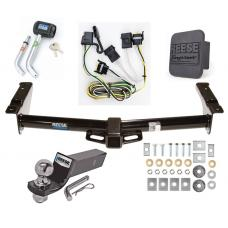 "Reese Trailer Tow Hitch For 08-14 Ford Van E150 E250 E350 Deluxe Package Wiring 2"" Ball and Lock"