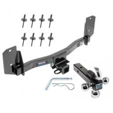 "Reese Trailer Tow Hitch Receiver For 11-17 BMW X3 w/Tri-Ball Triple Ball 1-7/8"" 2"" 2-5/16"""