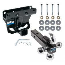 "Reese Trailer Tow Hitch Receiver For 05-10 Jeep Grand Cherokee WK 06-10 Commander w/Tri-Ball Triple Ball 1-7/8"" 2"" 2-5/16"""