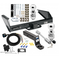 """Class 5 Trailer Tow Hitch For 71-93 Dodge D/W Pickup 94-98 Ram 2500 3500 w/ 7-Way Wiring 2-5/16"""" and 2"""" Balls 5"""" Drop Mount and Towing Lock"""