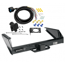 Class 5 Trailer Tow Hitch For 71-93 Dodge D/W Pickup 94-98 Ram 2500 3500 w/ 7-Way Wiring Harness