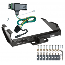 Class 5 Trailer Tow Hitch For 88-00 Chevy GMC C/K 2500 3500 w/ Wiring Harness Kit