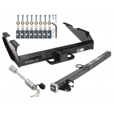 "Class 5 Trailer Tow Hitch For 88-00 Chevy GMC C/K 2500 3500 w/ 24"" or 34"" Extension and Towing Lock"
