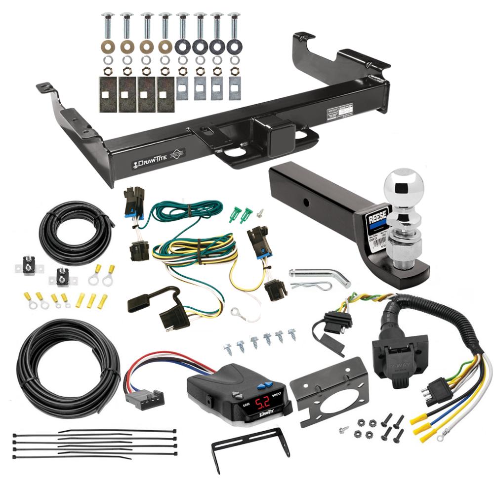 03-19 Chevy Express GMC Savana Van 7 Way RV Trailer Wiring Brake Control Ready