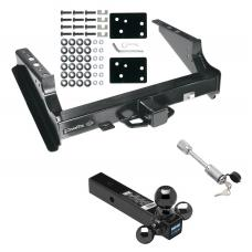 "Class 5 Trailer Tow Hitch For 99-16 Ford F-250 F-350 08 F-450 Super Duty Except Cab & Chassis w/ 1-7/8"" 2"" 2-5/16"" Tri-Tow-Ball Mount and Towing Lock"