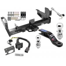 "Class 5 Trailer Hitch w/ 7-Way Wiring Harness Kit For 03-09 Dodge Ram 2500 3500 w/ Factory Tow Prep Package 2-5/16"" and 2"" Ball 10"" Long 3"" Drop Draw Bar and Towing Lock"