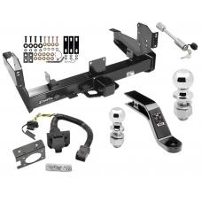 """Class 5 Trailer Hitch w/ 7-Way Wiring Harness Kit For 03-09 Dodge Ram 2500 3500 w/ Factory Tow Prep Package 2-5/16"""" and 2"""" Ball 10"""" Long 5"""" Drop Draw Bar and Towing Lock"""