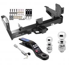"""Class 5 Trailer Tow Hitch For 03-10 Dodge Ram 11-19 RAM 2500 3500 w/ 2-5/16"""" and 2"""" Ball 10"""" Long 3"""" Drop Draw Bar and Towing Lock"""