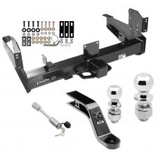 """Class 5 Trailer Tow Hitch For 03-10 Dodge Ram 11-19 RAM 2500 3500 w/ 2-5/16"""" and 2"""" Ball 10"""" Long 5"""" Drop Draw Bar and Towing Lock"""