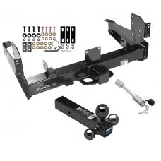 "Class 5 Trailer Tow Hitch For 03-10 Dodge Ram 11-19 RAM 2500 3500 w/ 1-7/8"" 2"" 2-5/16"" Tri-Tow-Ball Mount and Towing Lock"