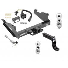 "Class 5 Trailer Hitch w/ 7-Way Wiring Harness Kit For 00-02 Dodge Ram 2500 3500  w/ Factory Tow Prep Package 2-5/16"" and 2"" Balls 7-3/4"" Drop Mount and Towing Lock"