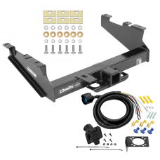 Class 5 Trailer Tow Hitch For 99-02 Dodge Ram 2500 3500  w/ 7-Way Wiring Harness