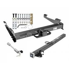 "Class 5 Trailer Tow Hitch For 00-02 Chevy Suburban 00-06 GMC Yukon XL 2500 w/ 24"" or 34"" Extension and Towing Lock"