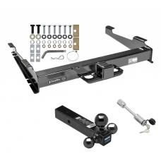 "Class 5 Trailer Tow Hitch For 00-02 Chevy Suburban 00-06 GMC Yukon XL 2500 w/ 1-7/8"" 2"" 2-5/16"" Tri-Tow-Ball Mount and Towing Lock"