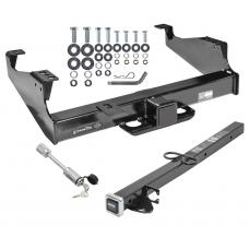 """Class 5 Trailer Tow Hitch For 99-17 F-350 F-450 F-550 Super Duty Cab & Chassis w/ 24"""" or 34"""" Extension and Towing Lock"""