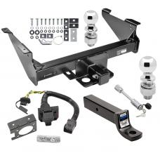 "Class 5 Trailer Hitch w/ 7-Way Wiring Harness Kit For 03-09 Dodge RAM 1500 2500 3500 Except Mega Cab w/ Factory Tow Prep Package 2-5/16"" and 2"" Balls 3"" Drop Mount and Towing Lock"