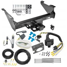 Class 5 Trailer Tow Hitch For 03-19 Dodge RAM 1500 2500 3500 Except Mega Cab w/ 7-Way Wiring Harness Kit