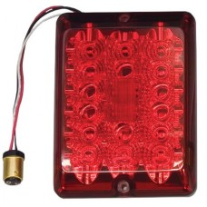 Bargman LED #84 Series Stop Tail Turn Light Lens Upgrade Module Red w/Connector and Lens Screws