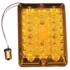 Bargman LED #84 Series Turn Light Lens Upgrade Module Amber w/Connector and Lens Screws