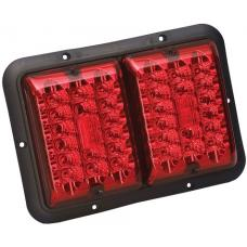 Bargman LED Double Trailer Taillight Red and Red LED w/ Black Base