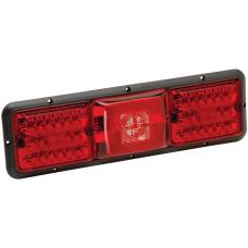 Bargman Taillight Horizontal Mount with Red LED Incandescent Backup Red LED with Black Base RV